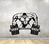 USA Decals4You | Sport Wall Decals for Gym or Home Hulk with Barbell Decor Stickers Vinyl MK0280