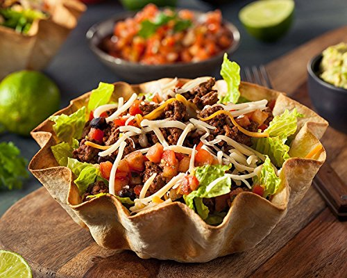 Set-Of-4-Pans-Quick-Easy-Tortilla-Shell-Makers-As-Well-As-Taco-Bowls-Maker-Dishwasher-Safe