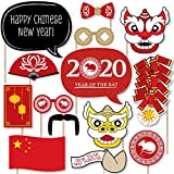 Big Dot of Happiness Chinese New Year - 2020 Year of the Rat Photo Booth Props Kit - 20 Count