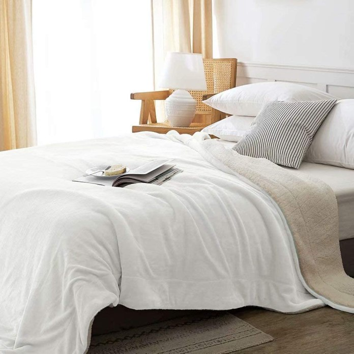 Sherpa Fleece Blanket King Size Brown Plush Throw Blanket