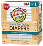 Earth's Best TenderCare Chlorine-Free Disposable Baby Diapers, 8-14 lbs-Size 1 (144 Count)