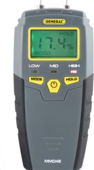 General Tools MMD4E Digital Moisture Meter, Water Leak Detector, Moisture Tester, Pin Type, Backlit LCD Display With Audible and Visual High-Medium-Low Moisture Content Alerts