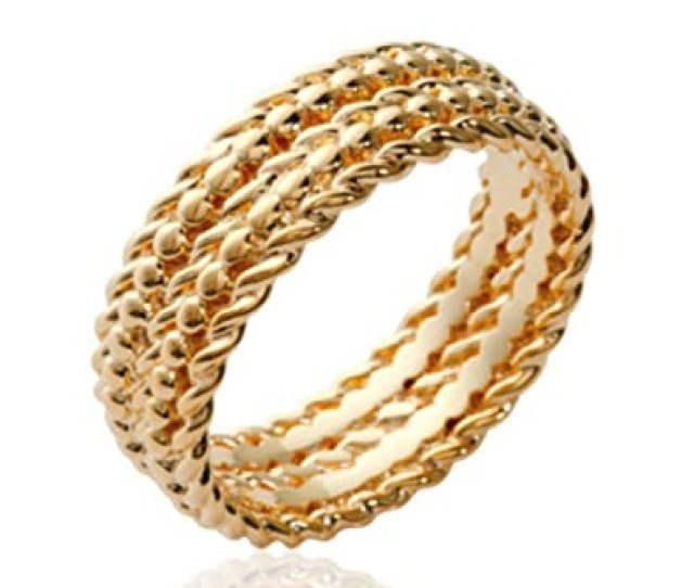 Amazon Com Isady Alexia Gold Womens Ring  Carat Gold Plated Jewelry