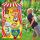 Asubaby Carnival Toss Games with 3 Bean Bag, Fun Carnival Game for Kids and Adults in Carnival Party Activities, Great Carnival Decorations and Suppliers (Circus Animal)