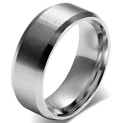 Ringe Damen Herren Edelstahl Silber Mit O Kette Für Männer Frauen Bandring Ehering Trauringe Weihnachten Hochzeit Engagement Geschenk