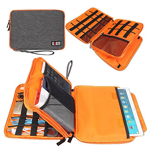 BUBM Electronics Organizer Travel Cable Cord Bag Accessories Gadget Storage Case for 9.7' iPad,Phone Charger,Power Bank, External Hard Drive,Large
