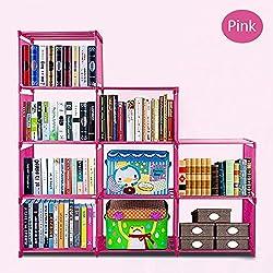 Gracelove Kids 4 Shelf DIY Bookcase Storage Bookshelf Home Furniture