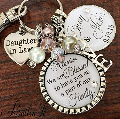 Daughter in Law wedding, Daughter Wedding gift, Bridal bouquet charm ...