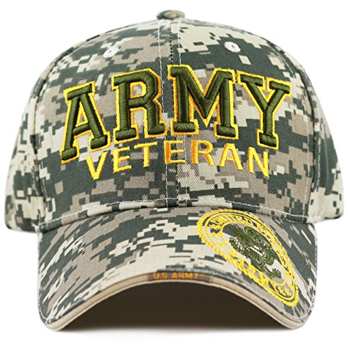 994f84e9bdb ... THE HAT DEPOT 1100 Official Licensed Military 3D Embroidered Logo Veteran  Cap (Army-Digital