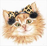 Ear Muff Kitten Karen Middleton Laminated Art Print, 31 x 30 inches