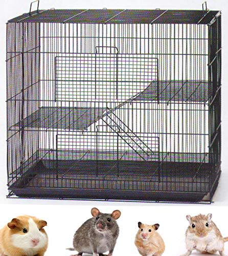 NEW 3 Levels Ferret Chinchilla Sugar Glider Rats Animal Cage 24'Length x 16'Depth x 24'HeightBlack