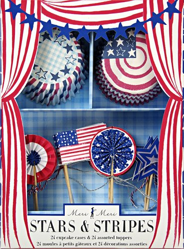 Meri Meri Cupcake Kits, Stars and Stripes