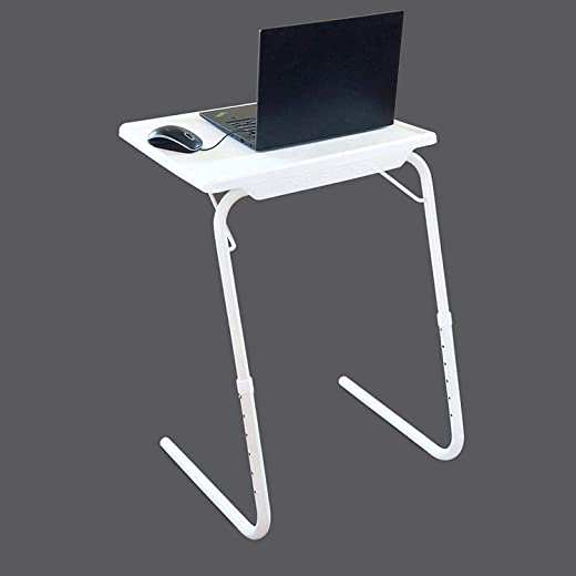 E Table - Foldable & Portable Laptop Stand, Multipurpose, Laptop Table Table Adjustable Strong Multipurpose Portable Laptop Table, Study Table, Kids Table, Office Table, Dinning Table (Black)