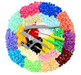 ilauke Snap Buttons 400 Sets 20 Colors with Snap Press Pliers T5 Plastic Snaps No-Sew Buttons Fastener Setter for Baby Cloth Diapers Bibs Rain Coat Crafting