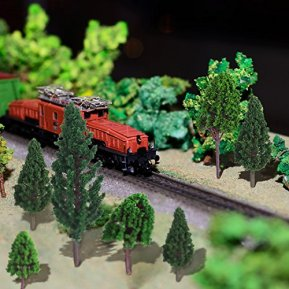 Bememo-33-Pieces-Model-Trees-118-629-inch-3-16-cm-Mixed-Model-Tree-Train-Trees-Railroad-Scenery-Diorama-Tree-Architecture-Trees-for-DIY-Scenery-Landscape-Natural-Green