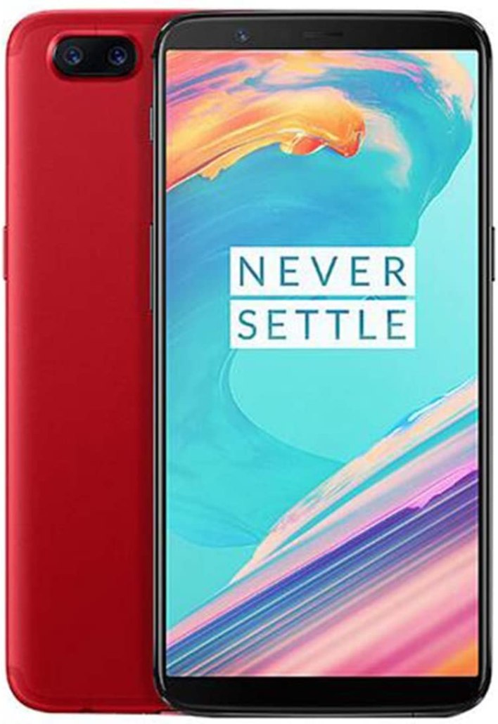 "OnePlus 5T A5010 128GB Red, Dual Sim, 6.01"", 8GB RAM, GSM Unlocked International Model, No Warranty"