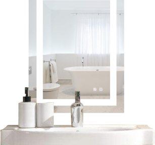 Bonnlo Led Dimmable Bathroom Mirror LED Lighted