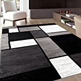 Contemporary Modern Boxes Area Rug 7' 10' X 10' 2' Gray