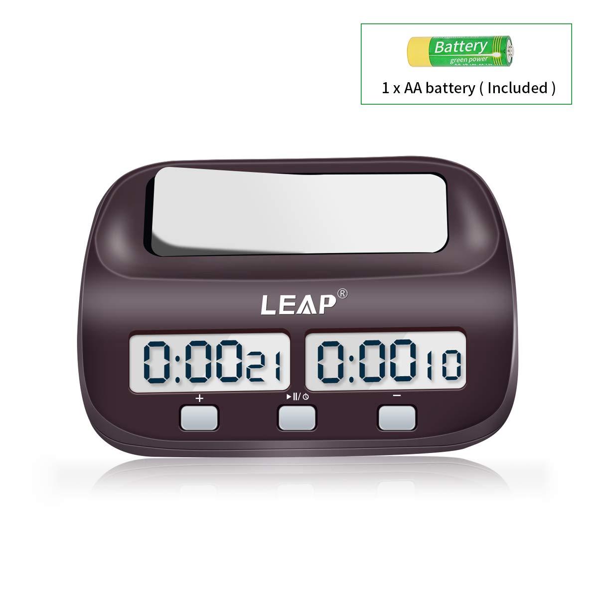 LEAP Chess Clock Digital Chess Timer for Board Games Timer  59/5000 Đồng hồ cờ vua LEAP Đồng hồ bấm giờ kỹ thuật số cho đồng hồ bấm giờ Send feedback History Saved Community