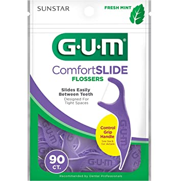 GUM Comfort Slide Flossers, Fresh Mint, 120 Count