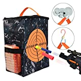 xdy mylany Target Pouch Storage Carry Equipment Bag for Nerf Guns Darts N Strike Elite / Mega / Rival Series