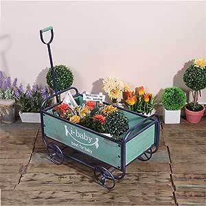 Puesto de Flores Madera Carro plantador de la Flor Pot pie