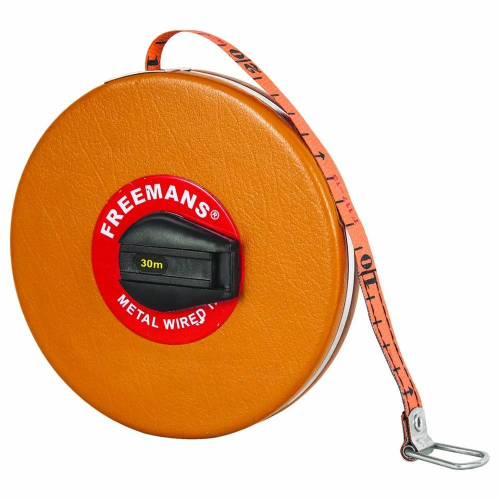 FREEMANS MT30 Metal Wire Top Line Measuring Tape - 30m. One of the Best quality Measuring Tape