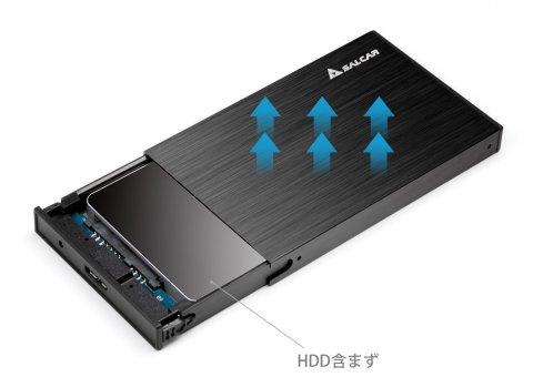 Salcar USB3.0 2.5インチ HDD/SSDケース sata接続 9.5mm/7mm厚両対応 Win/Mac対応 UASP対応 高放熱性アルミ
