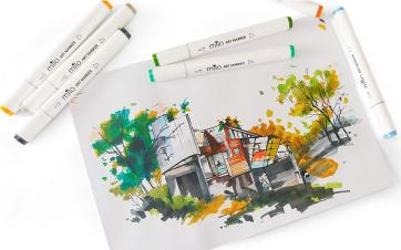MILO 24 Art Marker Set Dual Tip Artist Markers