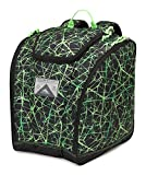 High Sierra Ski Boot / Snowboard Trapezoid Boot Bag Backpack - Digital Web/Black/Lime