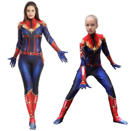 Captain Marvel Costume Captain Marvel Carol Danvers Jumpsuits