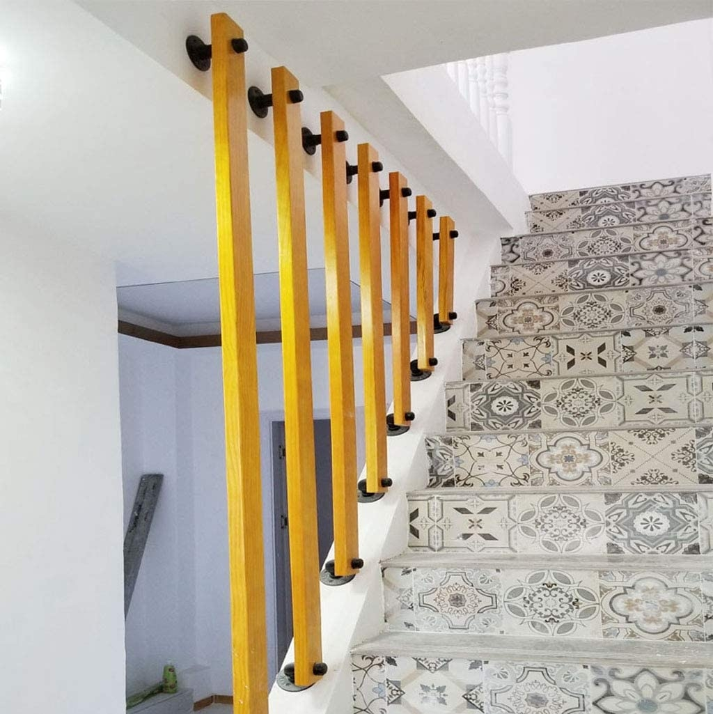 Amazon Com Yude Creative Solid Wood Stair Handrail Pine Bar   Wood Stairs And Railings   New   Stairway   Architectural Modern Wood Stair   Color   Basement