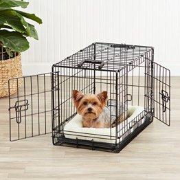 AmazonBasics-Single-Door-Double-Door-Folding-Metal-Dog-or-Pet-Crate-Kennel-with-Tray