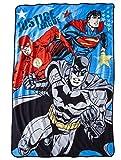 """Justice League Micro Raschel Blanket - 62"""" X 90"""""""