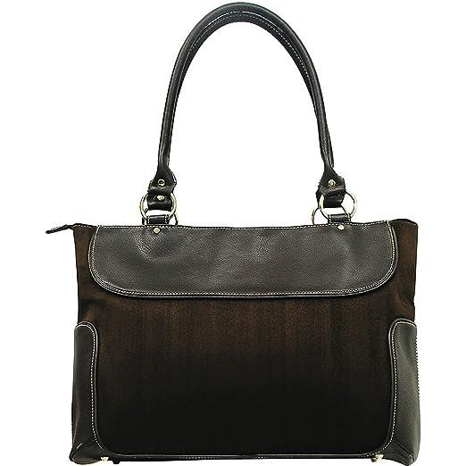 G. Pacific Venetian 17.5 in. Ladies Business Zip-Top Casual Laptop Tote Bag