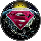 2016 CA BU Canada 5$ Superman 1 oz Colored Earth Precious Bullion 999 Silver Coin $5 Uncirculated BM