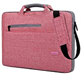 Brinch Multi-functional Suit Fabric Portable Laptop Carrying Bag for 15-15.6 Inch Laptop / Tablet / Macbook / Notebook - Light Pink