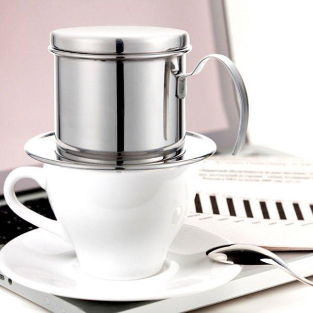 コーヒードリッパー ベトナム コーヒーメーカー ステンレスフィルター ホームオフィスアウトドア旅行のためのドリッパー by AKARU