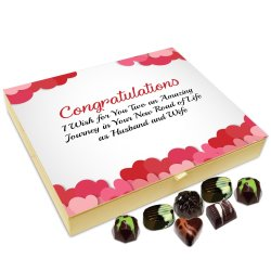 Chocholik Anniversary Gift Box – I Wish That You Two Have A Beautiful Journey Chocolate Box – 20pc