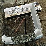 RITE EDGE Finger Grooved WOOD Classic LOCKBACK Folding Pocket Knife