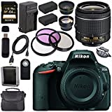Nikon D5500 DSLR Camera with AF-P 18-55mm VR Lens (Black) + EN-EL14 Replacement Lithium Ion Battery + External Rapid Charger + Sony 64GB SDXC Card + Carrying Case Bundle
