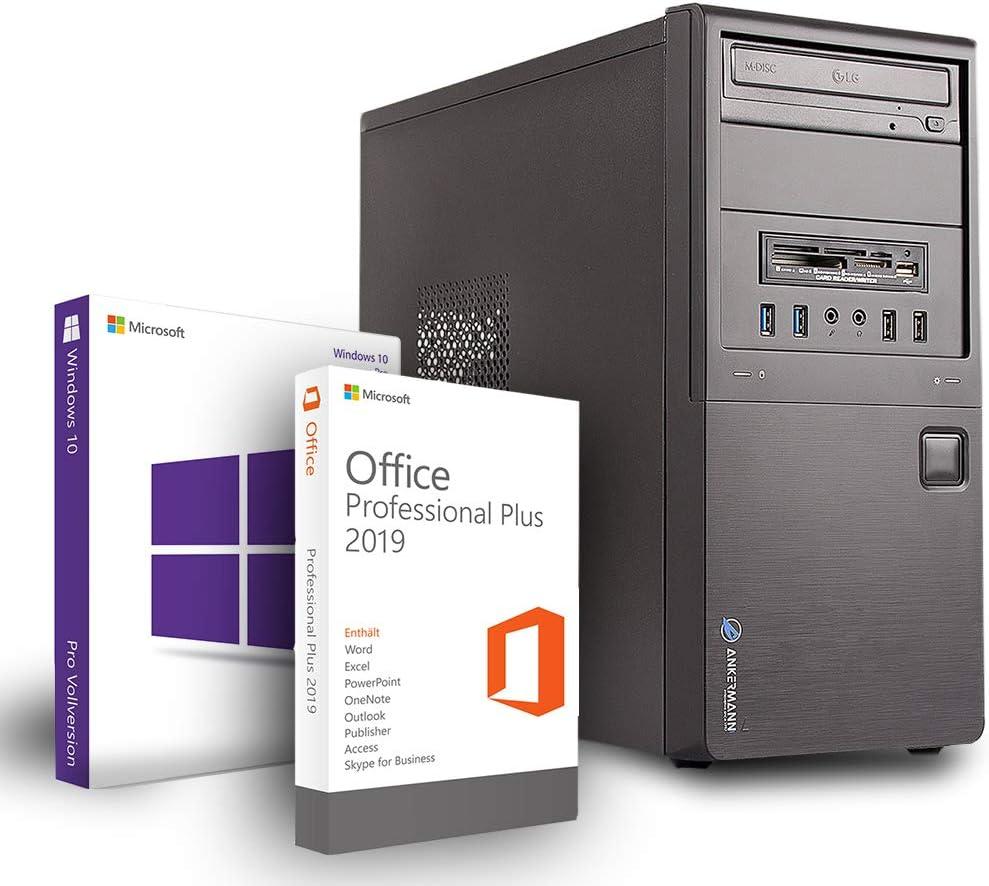 Ankermann Business günstig Silent PC Intel Core i5-3470 4X 3.2GHZ NVIDIA GeForce GT 16GB RAM 480GB SSD 500GB HDD Windows 10 Pro Silent W-LAN Office Professional