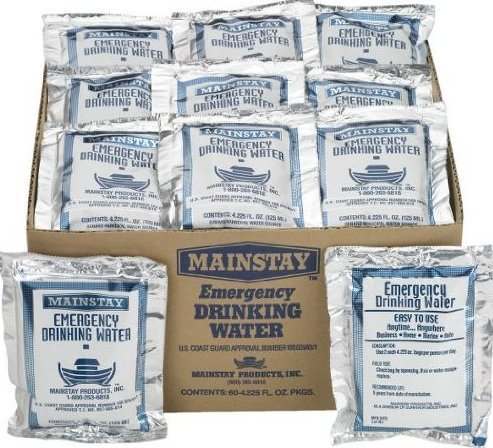 Mainstay Emergency Drinking Water 4.225 oz (60 Pack)
