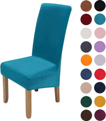 Colorixy Velvet Stretch Dining Chair Slipcovers