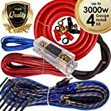 Complete 3000W Gravity 4 Gauge Amplifier Installation Wiring Kit Amp Pk2 4 Ga Red - for Installer and DIY Hobbyist - Perfect for Car/Truck/Motorcycle/Rv/ATV