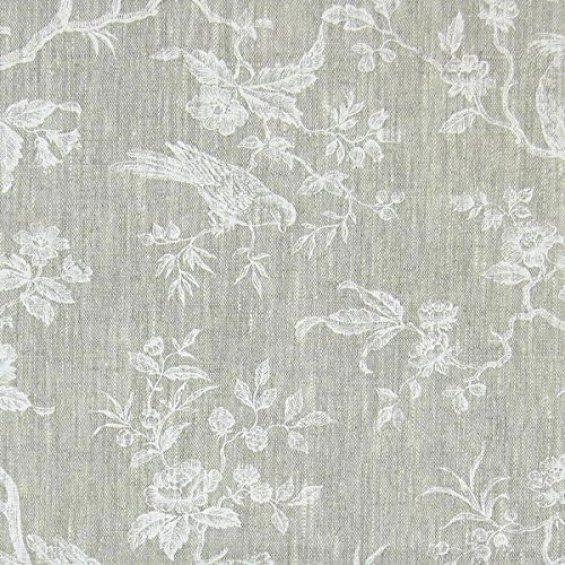 Fabulous Fabrics Reinleinen weiß, Blume, 150cm breit – Leinen zum Nähen von Kissen, Tischdecken und Taschen – Meterware erhältlich ab 0,5 m