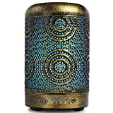 ARVIDSSON Best Essential Oil Diffuser, 100ml Premium Metal Ultrasonic Diffusers for Essential Oils, Cool Mist Humidifier with 7 Color Changing Light