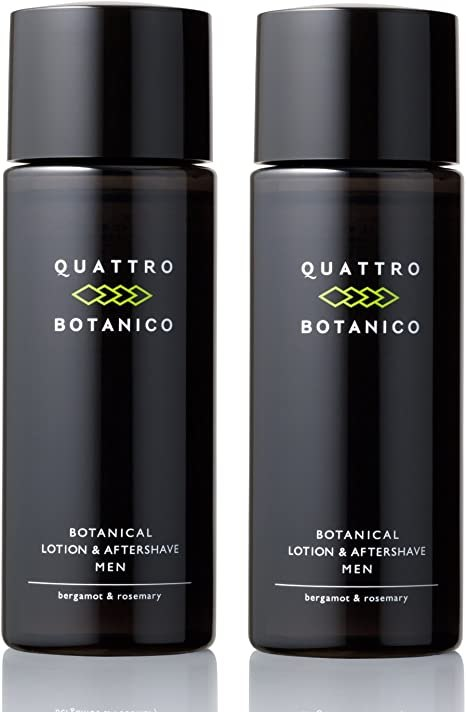 Amazon | クワトロボタニコ ボタニカル ローション & アフターシェーブ (メンズ 化粧水) 2本入り | クワトロボタニコ(QUATTRO  BOTANICO) | オールインワン 通販