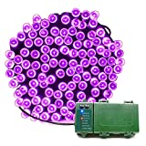 KOMOON Battery Operated String Lights 72 Ft 200 LED Christmas Decorative Fairy Lights for Garden Patio Lawn Curtain Xmas Tree Party Holiday Wedding (Purple)