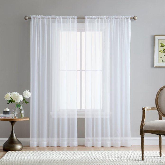 Floor length kitchen curtain